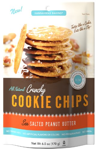All Natural Peanut Butter Cookies (Hannah Max Baking All Natural Crunchy Cookie Chips, Sea Salted Peanut Butter, 6 Ounce)