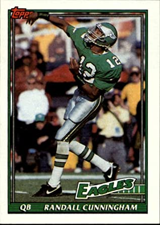 aeceefed Amazon.com: 1991 Topps #210 Randall Cunningham: Collectibles & Fine Art