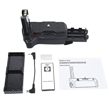 DSTE - Batería para empuñadura de cámaras Nikon D40, D40X, D60 ...
