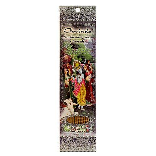 Govinda - Sandalwood, Sage & Lavender - Ramakrishnananda Hand-Rolled Stick Incense ()