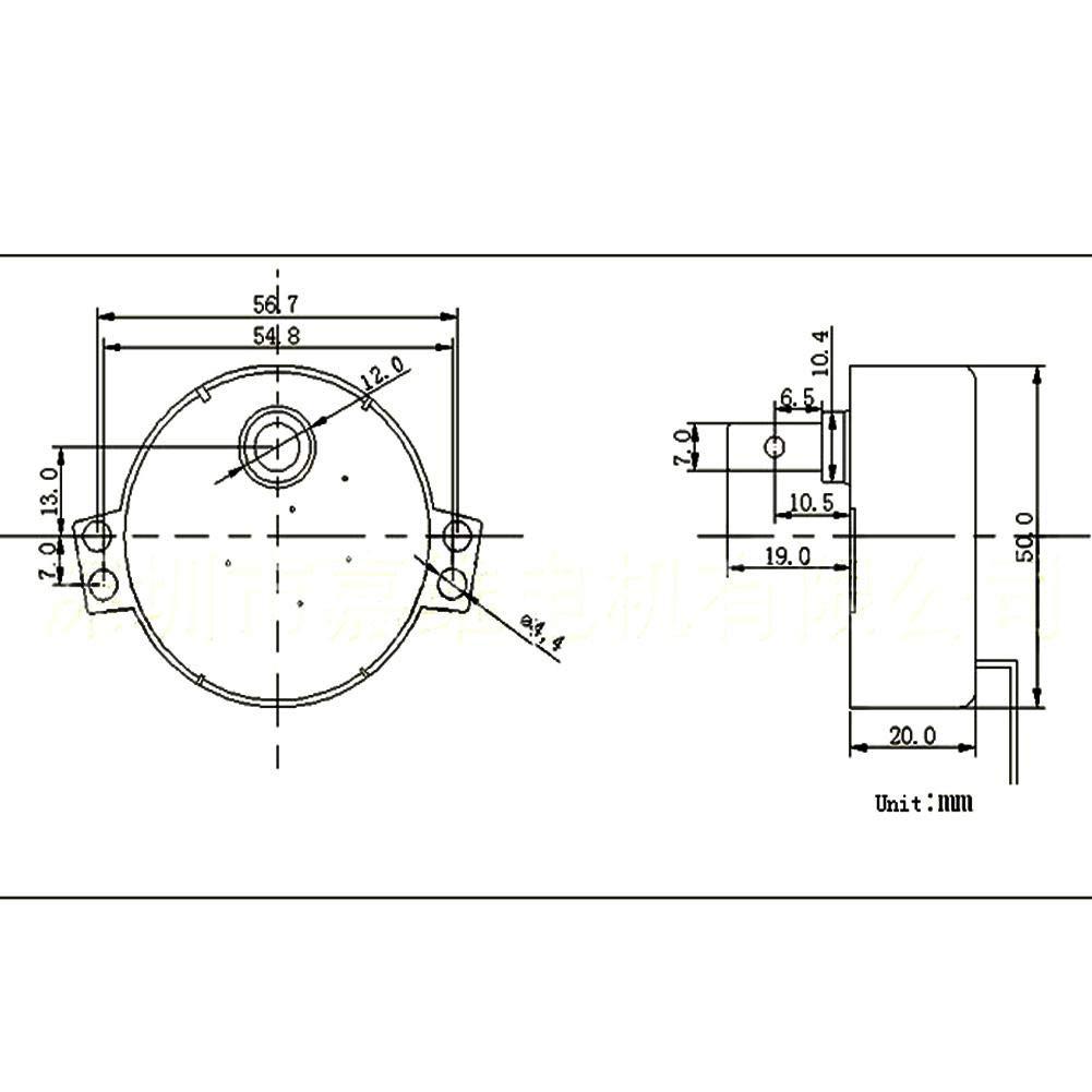 Sincronizador sincr/ónico de la placa giratoria Motor 50//60Hz Frecuencia AC 220~240V Motor con engranaje CW//CCW 4W 8-10RPM