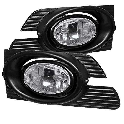 Carpartsinnovate Fit 01-02 Honda Accord 4Dr Sedan Clear Fog Lights Driving Bumper Lamps+Switch