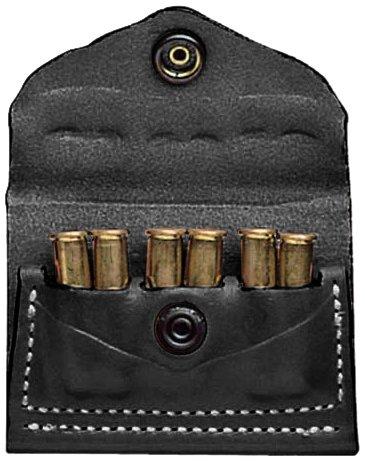 DeSantis 2X2X2 A08 Shell Holder Ambidexterous .38 .357 Caliber Leather ()