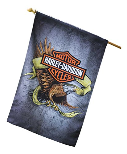 Harley-Davidson Suede Legendary Eagle House Flag, Double Sided 13S4920FB