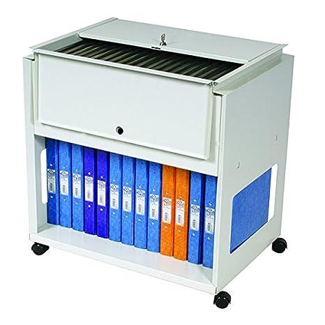 Rotadex 710538 - Soporte portátil para archivadores, blanco: Amazon.es: Oficina y papelería