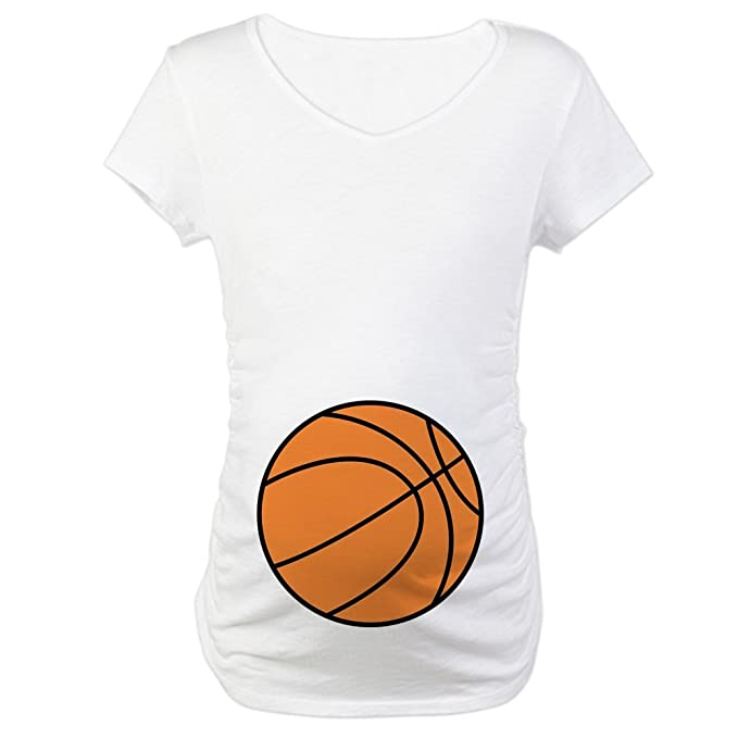 c67cfb279a9b8 CafePress Basketball Belly Maternity T-Shirt Cotton Maternity T-Shirt, Cute  & Funny
