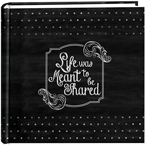 Pioneer Photo Albums 200-Pocket Chalkboard Printed 'Shared' Theme Photo Album for 4 by 6-Inch Prints