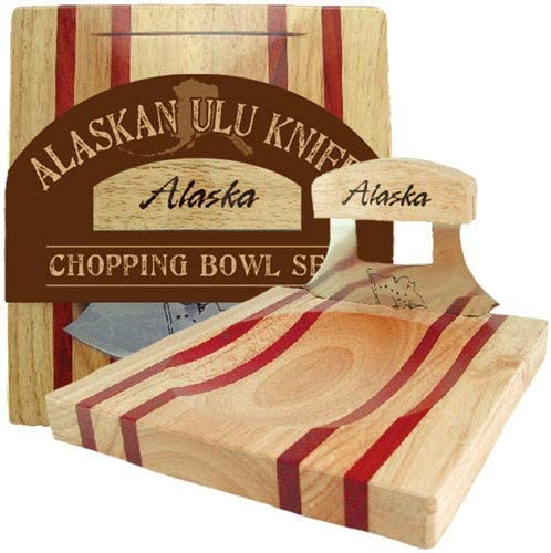 Alaskan Women Knife and Chopping Bowl Set