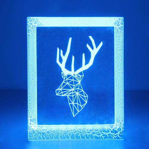 Price comparison product image OYE HOYE 3D Illusion Lamp Unique Photo Frame Night Light for Home Decor Multiple Color Changing USB Powered LED Table Lamp - Best Gift for Kids / Friends / Birthdays / Holidays