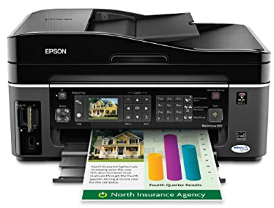 Epson WorkForce 610 Wireless Color Inkjet All-in-One Printer (C11CA50201)