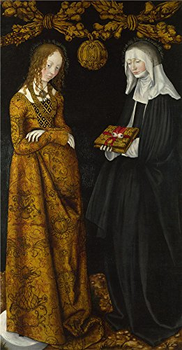 ['Lucas Cranach the Elder Saints Christina and Ottilia ' oil painting, 8 x 15 inch / 20 x 39 cm ,printed on Perfect effect canvas ,this High Definition Art Decorative Prints on Canvas is perfectly suitalbe for Hallway decor and Home decoration and] (Lucas Mother 3 Costume)