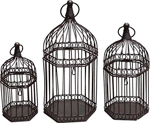 "Transpac Metal Birdcage Set, 7 x 16.5 x 7"""