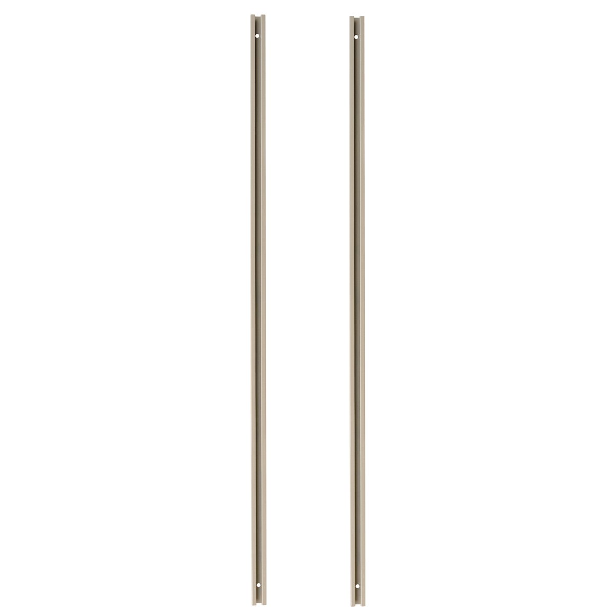 Akro-Mils TV70R 70-Inch Tall Mounting Rail for TiltView Horizontal Plastic Storage System, Beige, Set of 2
