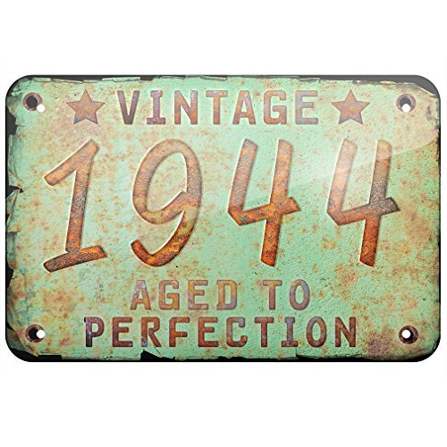 Metal Sign Vintage Year 1944, Born/Made, Small 12x18