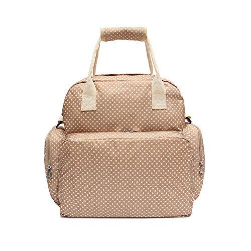 yuoi multifuncional para bebé bolsa de pañales mochila de nylon impermeable gran capacidad Smart organizadores ligero bolsas de viaje para mamá beige beige beige