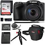 Canon PowerShot SX420 Digital Camera 42x Optical Zoom Wi-Fi NFC Enabled, Sandisk 16GB SD Card, DSLR Camera Bag, 12″ Tripod and Premium Accessory Bundle