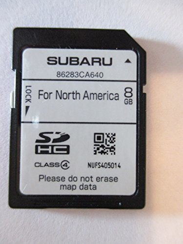 CA640 2014 2015 SUBARU IMPREZA WRX and BRZ SD NAVIGATION CARD , MAP UPDATE LATEST VERSION FOR NORTH AMERICA, USA / CANADA PART NUMBER 86283CA640