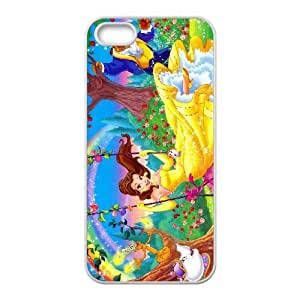 iPhone 5 5s Cell Phone Case White beauty and the beast 020 YD729286