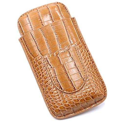 (Kinzd Leather Cigar Case Cigar Cutter Stainless Steel Sharp Double Cut Blade (Cigar Case))