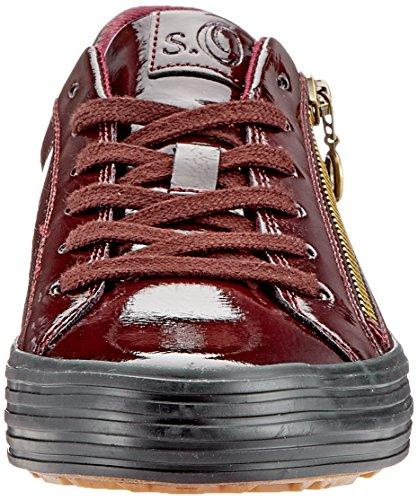 23615 Bordeaux Oliver Damen Pat s Sneaker Rot 21 528 qfPEcfAY