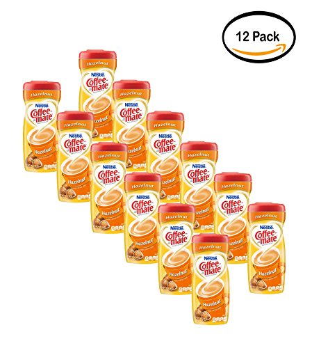 PACK OF 12 - Nestle Coffeemate Hazelnut Powder Coffee Creamer 15 oz. Canister by Coffee-mate