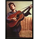 Bob Dylan Young with Guitar Music Poster Print Lamina Framed Poster - 34.75 x 25.25in