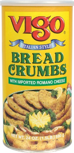 Vigo Bread Crumbs with Imported Romano Cheese, 24 Ounce (Pack of 12)