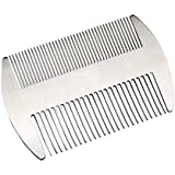 IHOMKIT Stainless Steel EDC Credit Card Size Comb Wallet Pocket Comb Anti-Static Hair Beard Mustache Comb for Man,Sliver