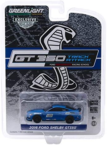 2016 Ford Mustang Shelby GT35012 Deep Impact Blue Ford Performance Racing School GT350 Track Attack 1/64 Diecast Model Car by Greenlight 30109