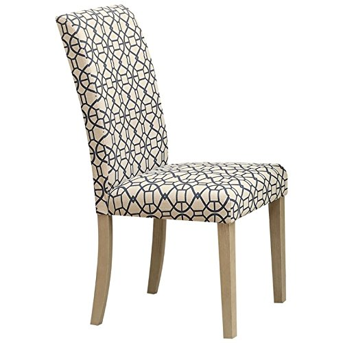 ACME Furniture 71907 Glassden Side Chair (Set of 2), Blue Fabric & Light Oak