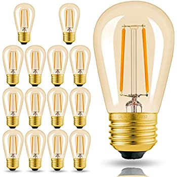 Hizashi 15 Pack 2w Dimmable Led S14 2200k Warm Filament