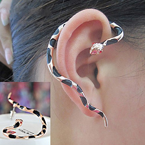 Women Men Punk Alloy Snake Design Ear Cuff Wrap Stud Earrings Jewelry WelcomeShop - Alloy Wrap