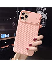 DSAX Camera Protection Shockproof Phone Case for IP 11 Pro X XR XS Max 6 6S 7 8 Plus Solid Soft TPU Back Cover (Color : P, Material : For iPhone 11Pro Max)