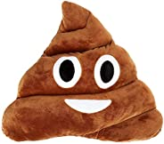 QSHOP 11x12 Poop Poo Emoji Emoticon Cushion Pillow Brown Stuffed