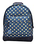 Mi-Pac Women's Denim Polka Women's Backpack In Blue With Dots