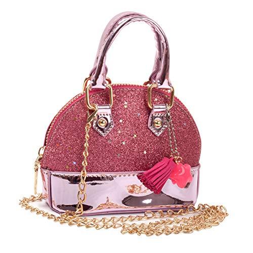 HOOLCHEAN Little Girls' Sequins Mini Handbags Toddler Girls Shell Shape Crossbody Bag Princess Purses, Pink ()