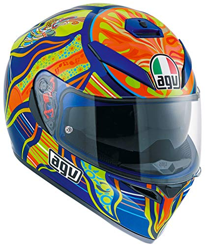 (AGV K3 5-Continents Full Face Motorcycle Helmet (Multicolor, Small))