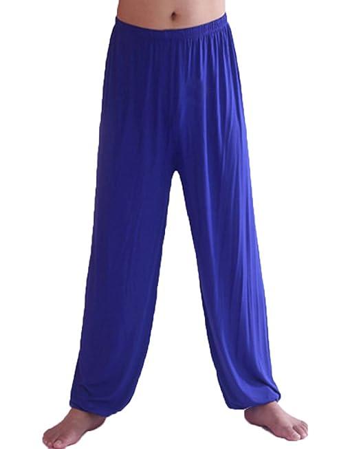 Pantalones De Yoga Suelto Y Cómodo Hombre Lounge Danza Fitness Pijama Pantalón