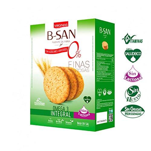 Galleta Virginias B-San Omega3 Sin Azúcares Añadidos 180 G: Amazon.es: Alimentación y bebidas