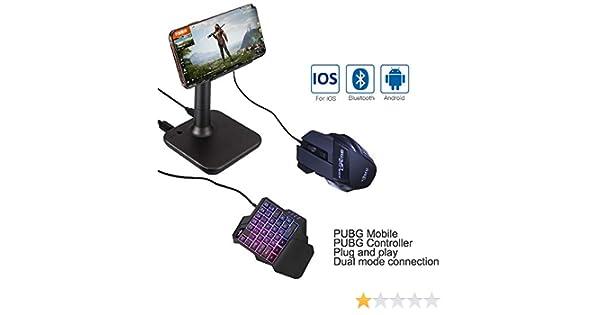 Teclado Rat/¨/®n MeterMall Electr/¨/®nica G3 PUBG Gamepad Controller para iOS PUBG Mobile Android to PC Bluetooth USB Keyboard Mouse Converter Conversor G3
