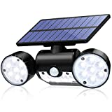 CINOTON Solar Lights Outdoor Solar Security Lights with Motion Sensor 30 LED Solar Flood Light Outdoor Dual Head Spotlights IP65 Waterproof 360°Rotatable Solar Motion Light for Yard Garage Patio Porch