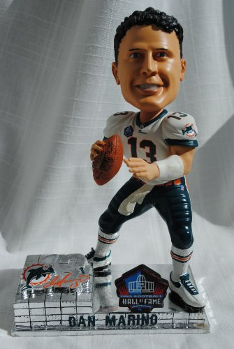 Dan Marino Miami Dolphins Hall of Fame rare 8'' action Bobblehead bobble head by Forever Collectibles