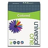 Universal 11212 Colored Paper, 20lb, 8-1/2 x