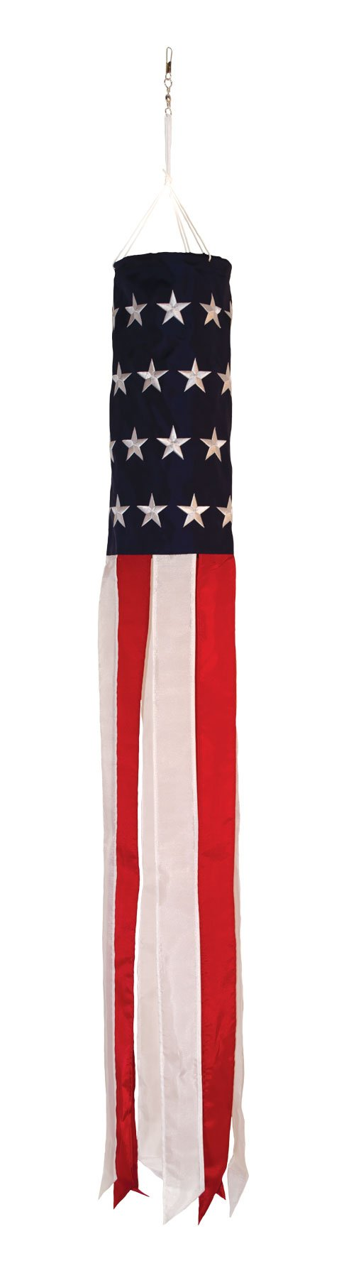 In the Breeze Stars and Stripes Embroidered Value Windsock Flag, 50''