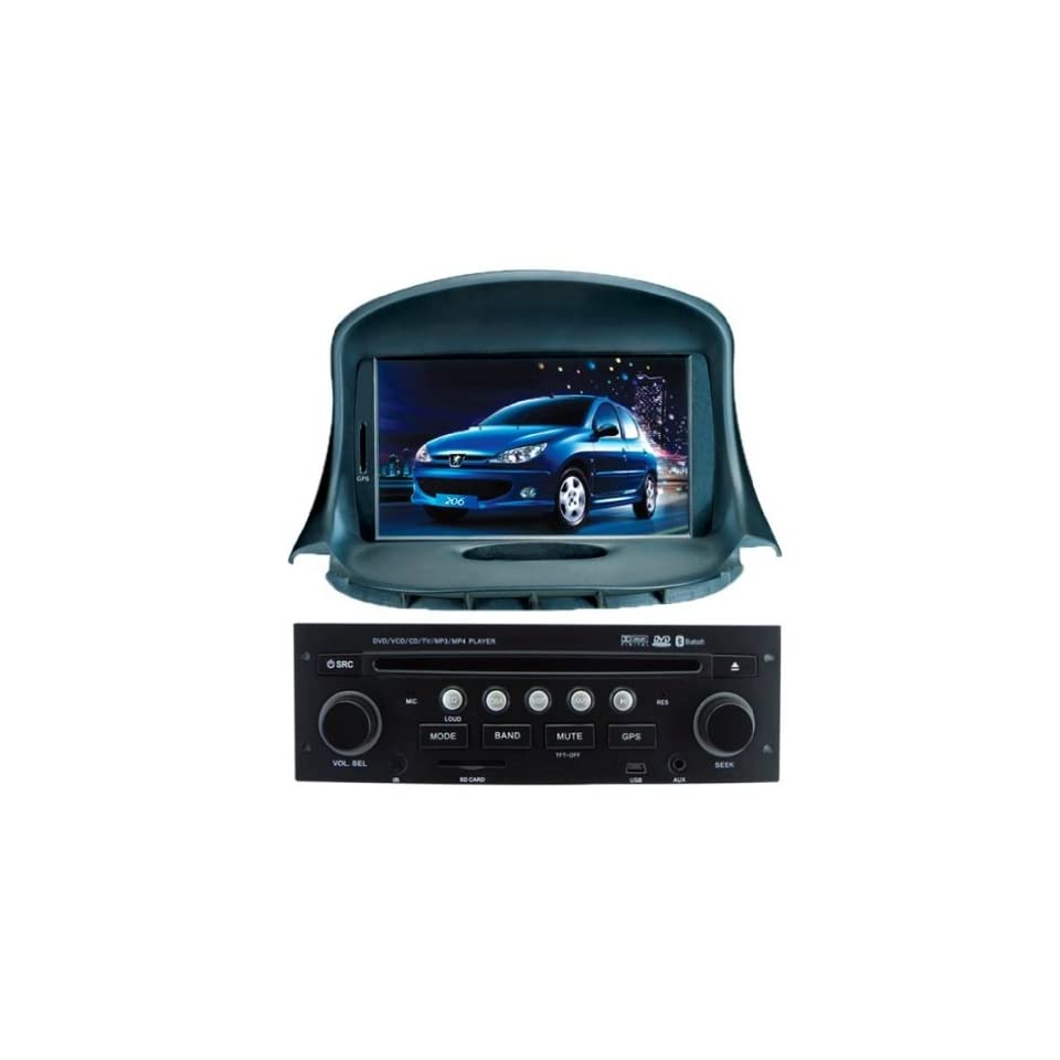Chilin Car DVD for Peugeot 206 High Inch Touchscreen Double DIN Car DVD Player & In Dash GPS Navigation System