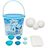 Floof Indoor SnowBall Maker In Bucket 7 PC -Includes 3 Sizes Of Snowballs Easy To Mold, Soft, Smooth & Non Toxic- Use Over & Over Again