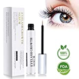 BreoLife Eyelash Growth Serum Eyebrow Enhancer (5ml) - Best Eyelash Growth Serum For