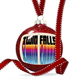 Christmas Decoration Retro Cites States Countries Twin Falls Ornament