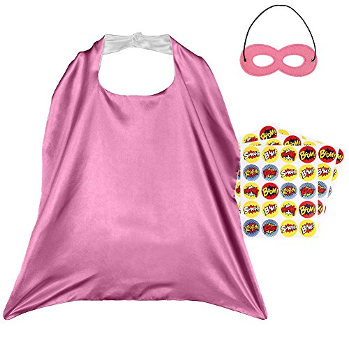 Super Easy Diy Halloween Costumes (Superhero Capes, Reversible Costume with Mask & Superhero Stickers for Kids)