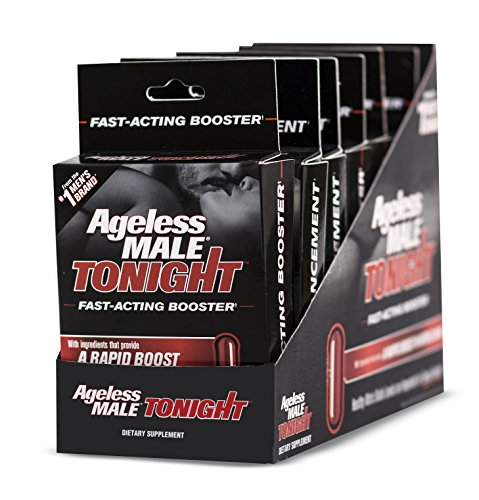 Ageless Male Tonight Rapid Nitric Oxide Booster for Men – 12 Count by New Vitality